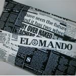 Kissenbezüge Zeitungsmix schwarz-weiß