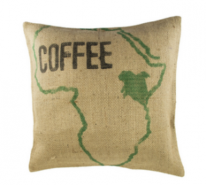 Kissenbezug aus Kaffeesack